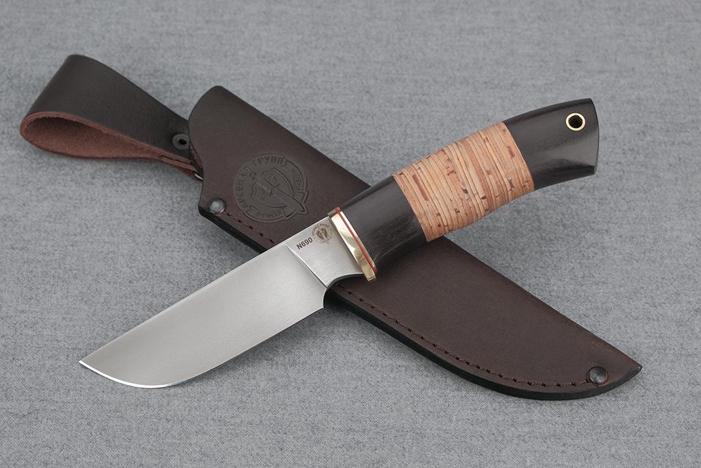 """Нож """"Бизон"""" (N690, граб, береста)"""