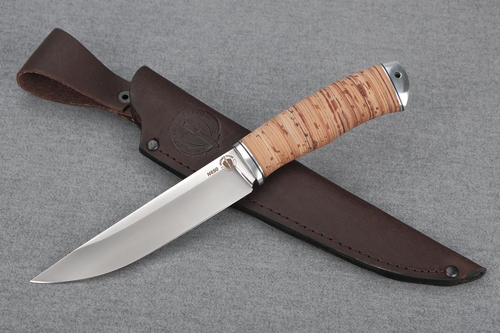 "Нож ""Финский-2"" (N690, дюраль, береста)"