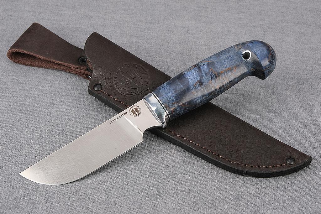 """Нож """"Бизон"""" (М390, стабилизированная карельская береза, кобра)"""