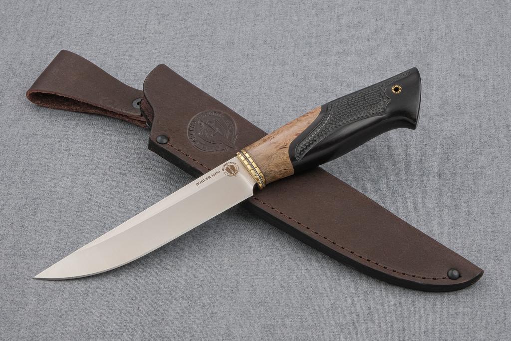 """Нож """"Финский-2"""" (М390, карельская береза, граб, резной)"""