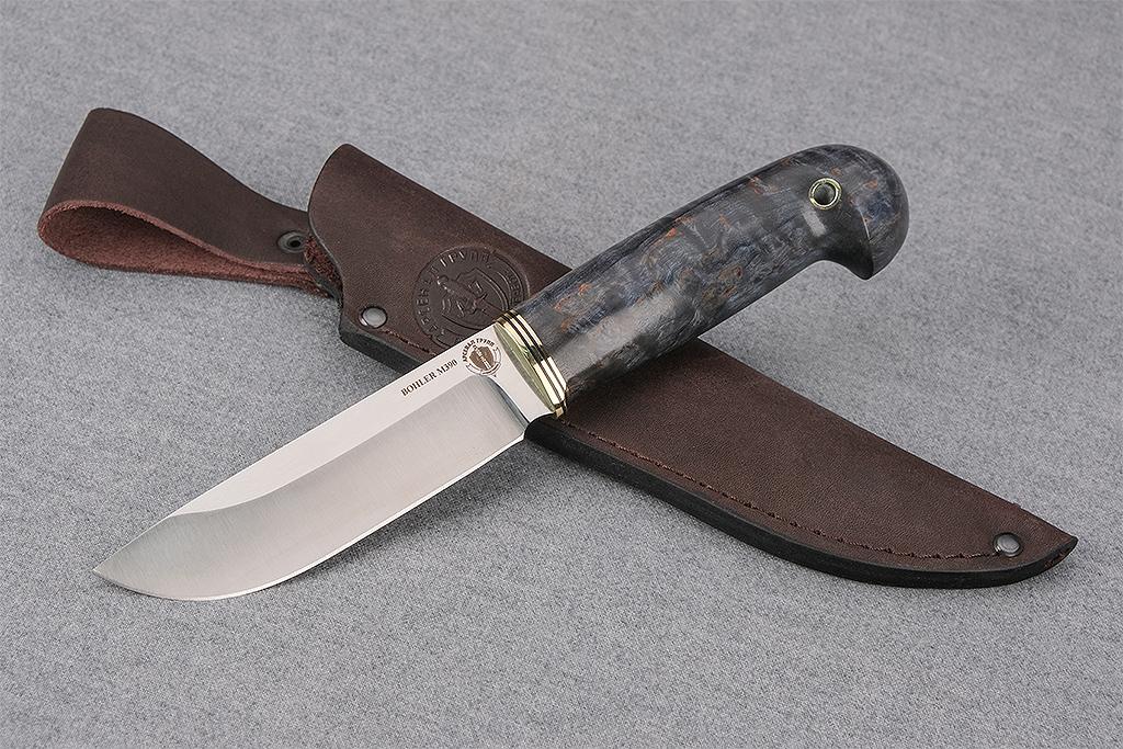 """Нож """"Лиса"""" (М390, стабилизированная карельская береза)"""