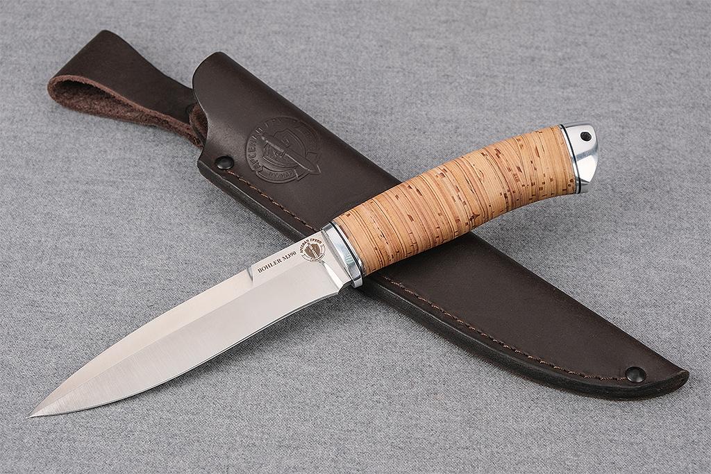 """Нож """"Перо"""" (М390, дюраль, береста)"""