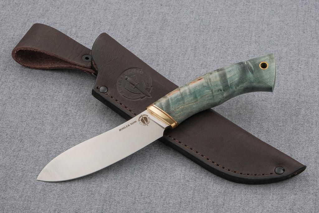 """Нож """"Лань"""" (М390, стабилизированная карельская береза)"""