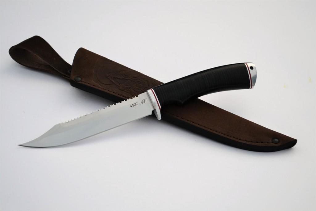 """Нож """"Рыбак"""" (440С, дюраль, кожа)"""