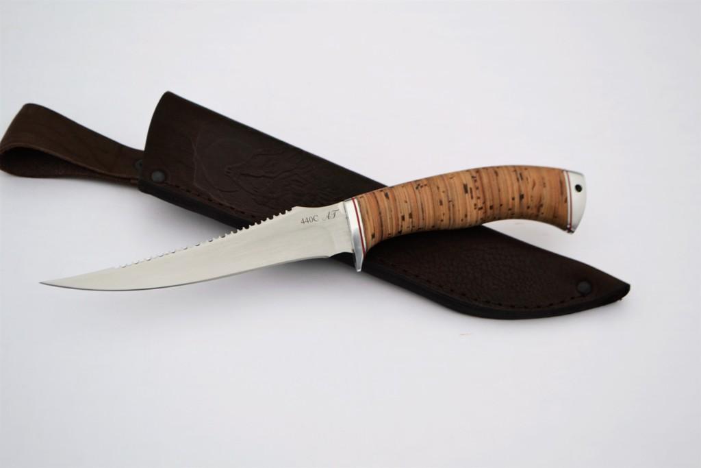 """Нож """"Рыбак-2"""" (440С, дюраль, береста)"""
