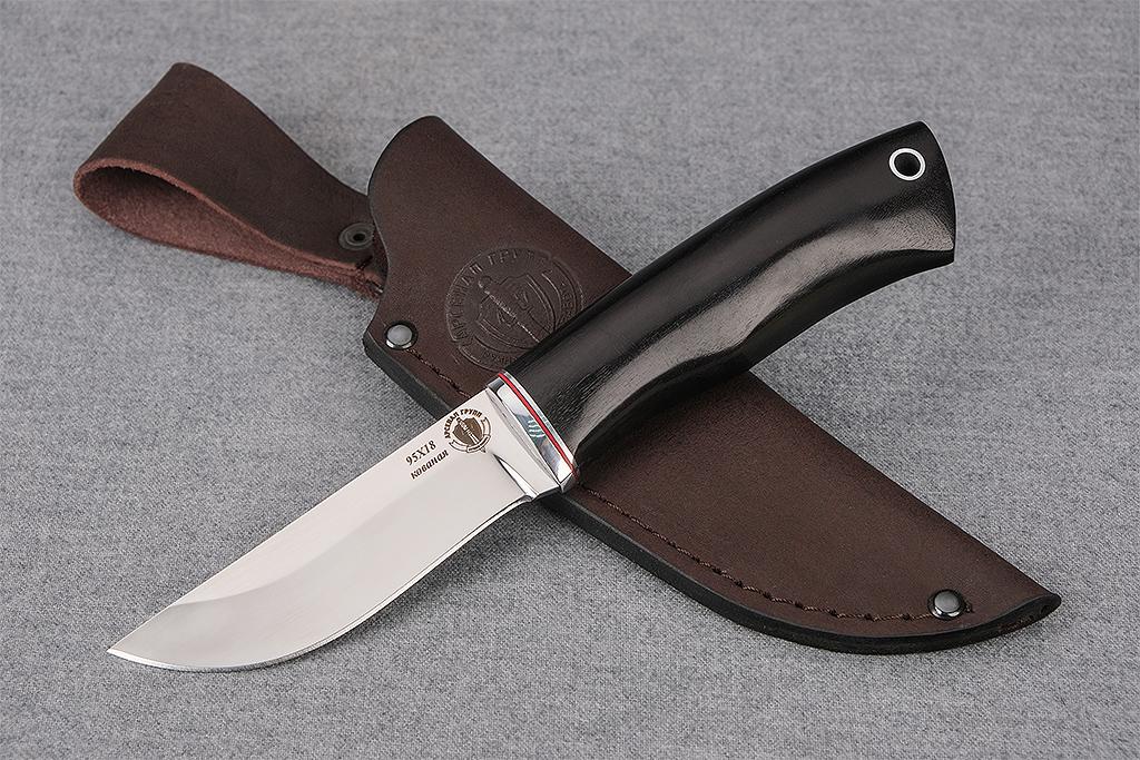 """Нож """"Грибник"""" (Кованая сталь 95Х18, граб)"""