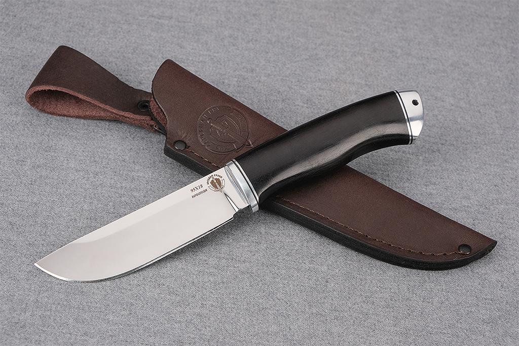 """Нож """"Лиса"""" (Кованая сталь 95Х18, дюраль, граб)"""
