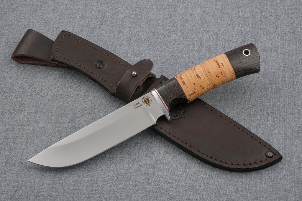 """Нож """"Скорпион"""" (Кованая сталь 95Х18, венге, береста)"""