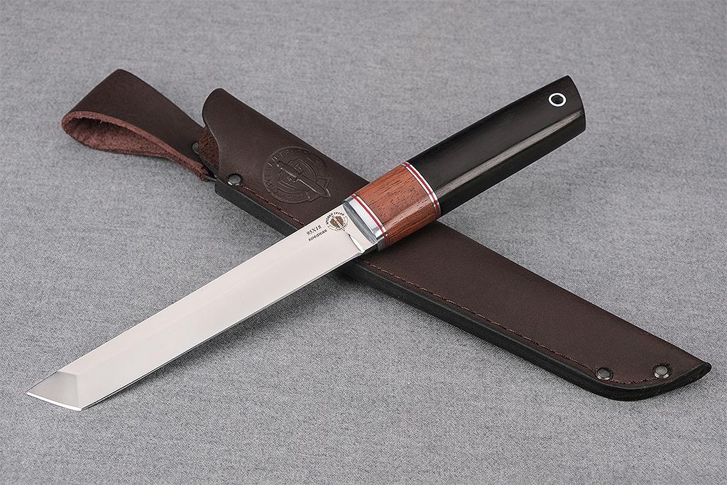 "Нож ""Танто"" (Кованая сталь 95Х18, премиум граб)"