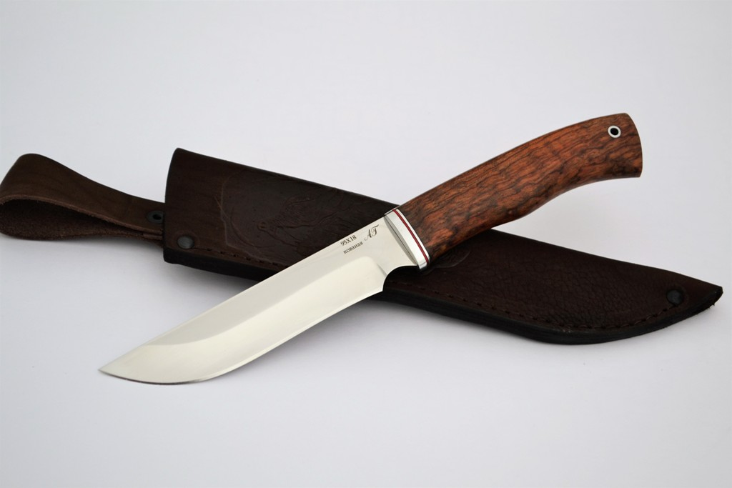 "Нож ""Ягуар"" (Кованая сталь 95Х18, бубинга)"