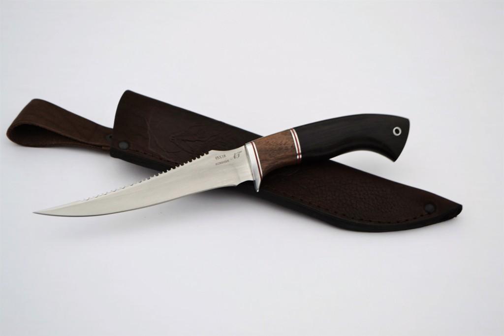 """Нож """"Рыбак-2"""" (Кованая сталь 95Х18, премиум граб)"""