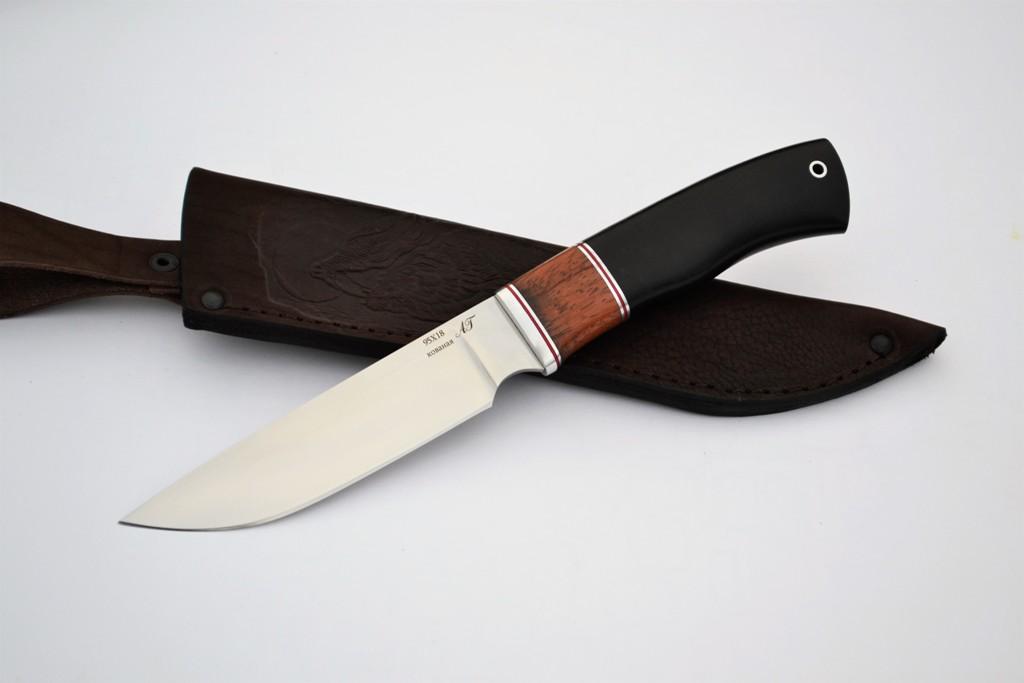 """Нож """"Рысь"""" (Кованая сталь 95Х18, бубинга, граб)"""