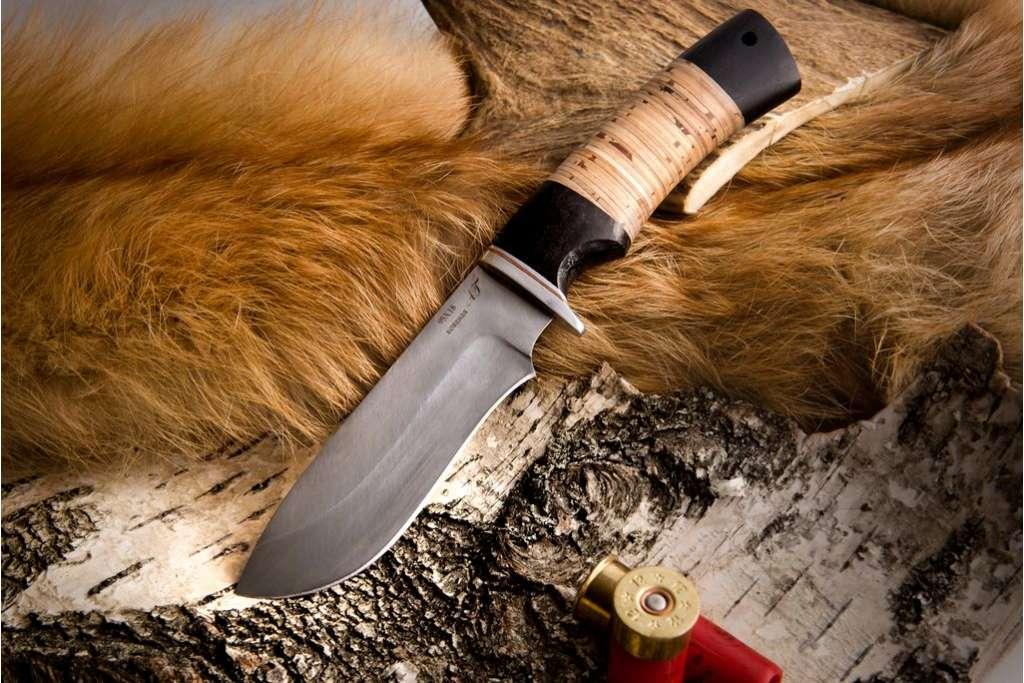 """Нож """"Скаут"""" (Кованая сталь 95х18, граб, береста)"""
