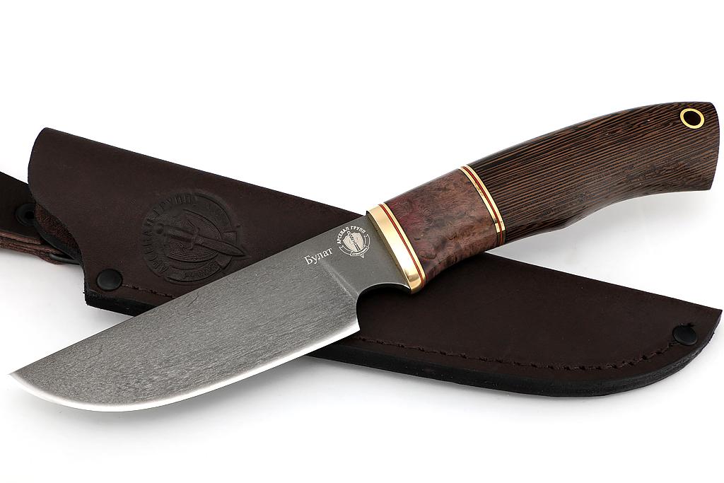 """Нож """"Бизон"""" (Булат, стабилизированная карельская береза, венге)"""