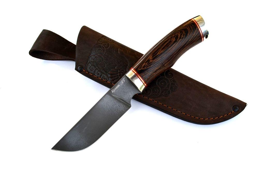 """Нож """"Бизон"""" (Булат, литье мельхиор, венге)"""