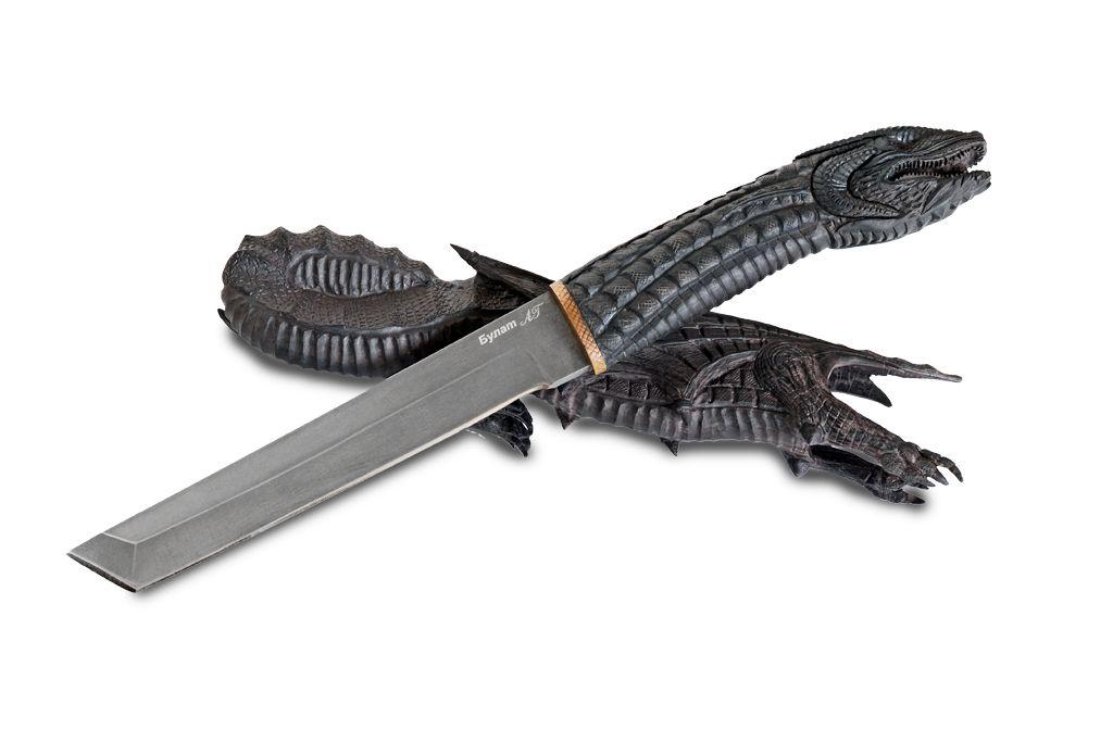 """Нож """"Танто"""" (Булат, граб, резной """"Дракон"""")"""