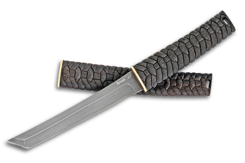 """Нож """"Танто-2"""" (Булат, граб резной) с деревянными ножнами граб резной"""