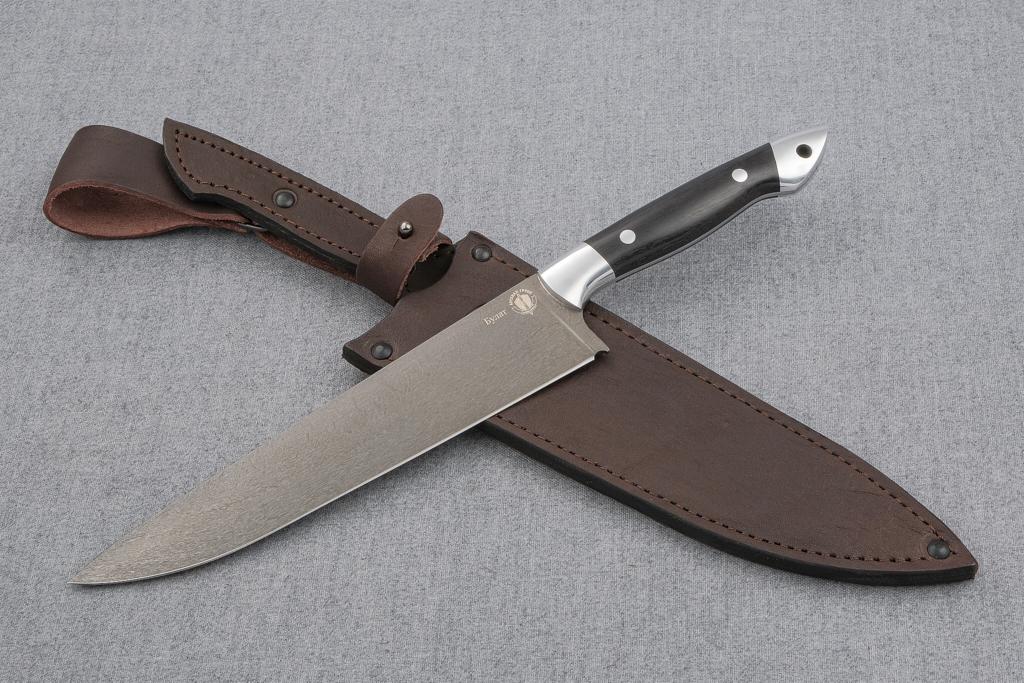 """Нож """"Шеф-Повар-4"""" (Булат, цельнометаллический, дюраль)"""