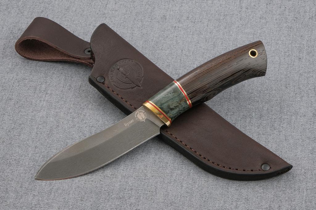"""Нож """"Лань"""" (Булат, стабилизированная карельская береза, венге)"""
