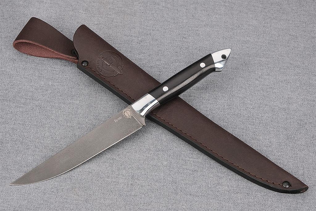 """Нож """"Шеф-повар-2"""" (Булат, дюраль, граб, цельнометаллический)"""