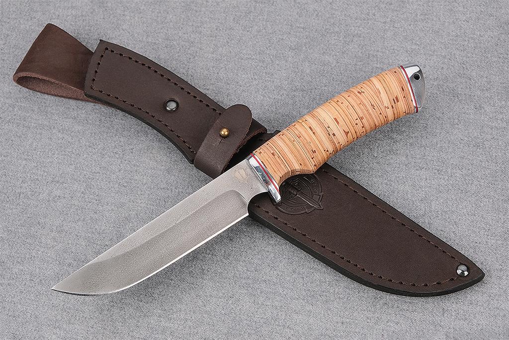 """Нож """"Варан"""" (Алмазная сталь ХВ-5, береста, дюраль)"""