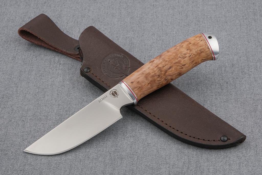 """Нож """"Бизон"""" (ELMAX, стабилизированная карельская береза, дюраль)"""