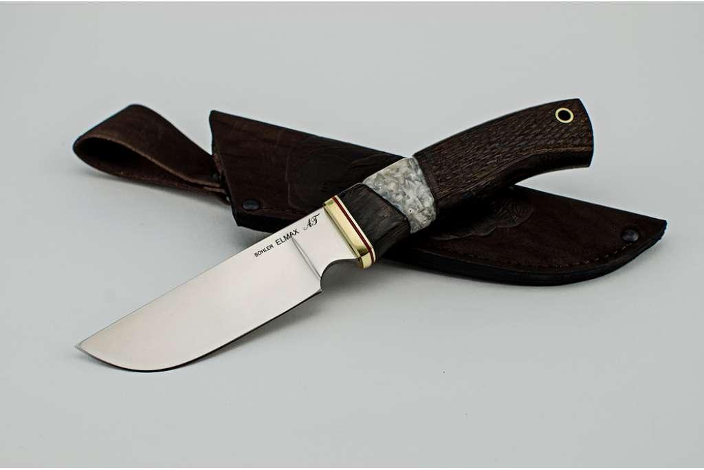 """Нож """"Бизон"""" (ELMAX, венге, резная рукоять, полимер)"""