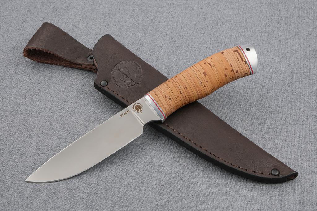 "Нож ""Рысь"" (ELMAX, береста, дюраль)"