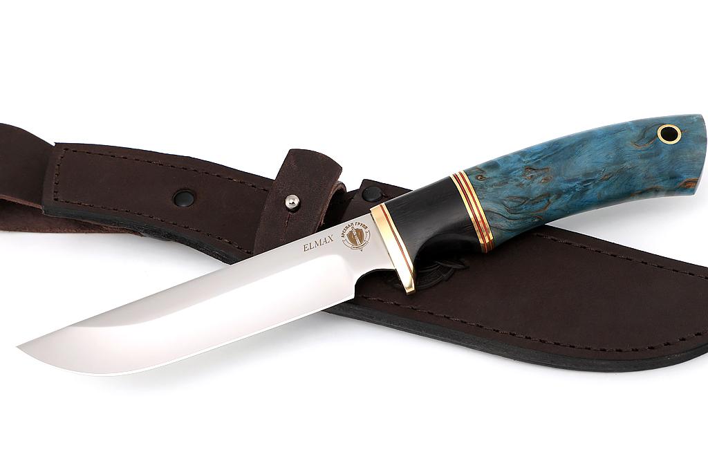 """Нож """"Варан"""" (ELMAX, граб, стабилизированная карельская береза)"""