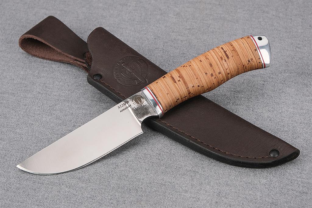 """Нож """"Бизон"""" (Х12МФ, дюраль, береста)"""
