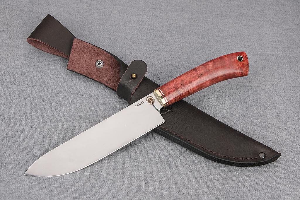 """Нож """"Шеф-повар-3"""" (Elmax, стабилизированная карельская береза)"""