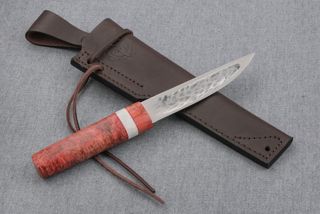 """Нож """"Якутский-2"""" (Х12МФ, стабилизированная карельская береза, вставка искусственный камень)"""