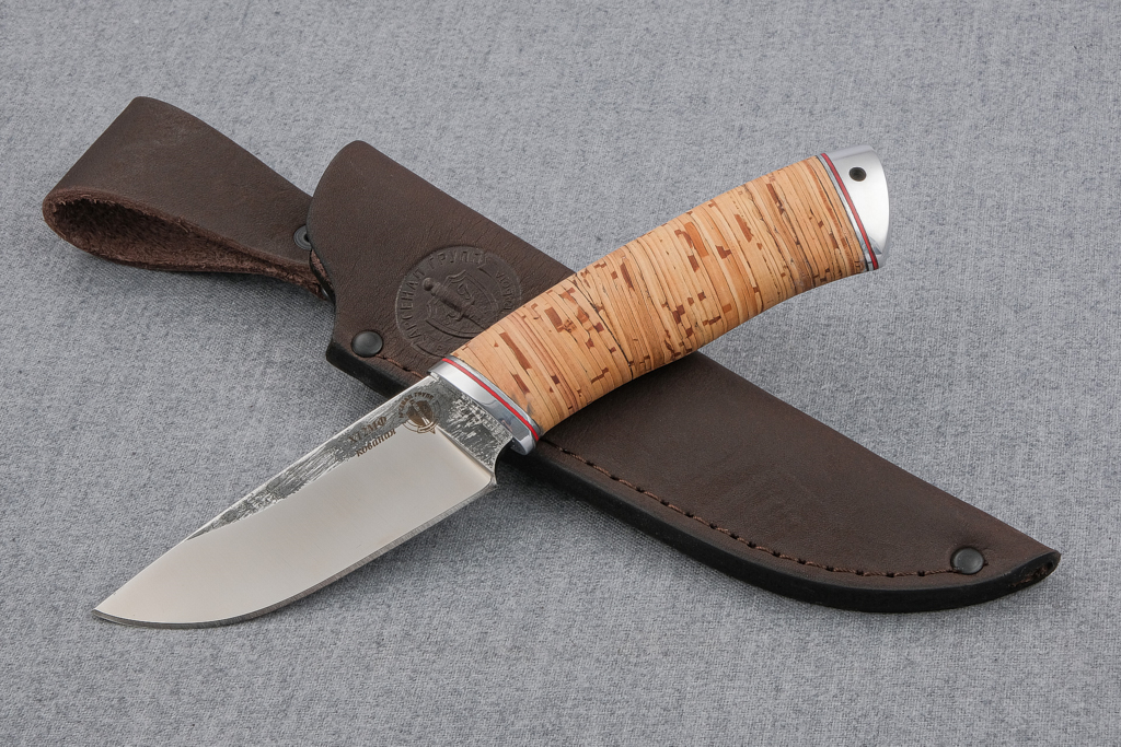 "Нож ""Бобр-2""  (Х12МФ, береста, дюраль)"