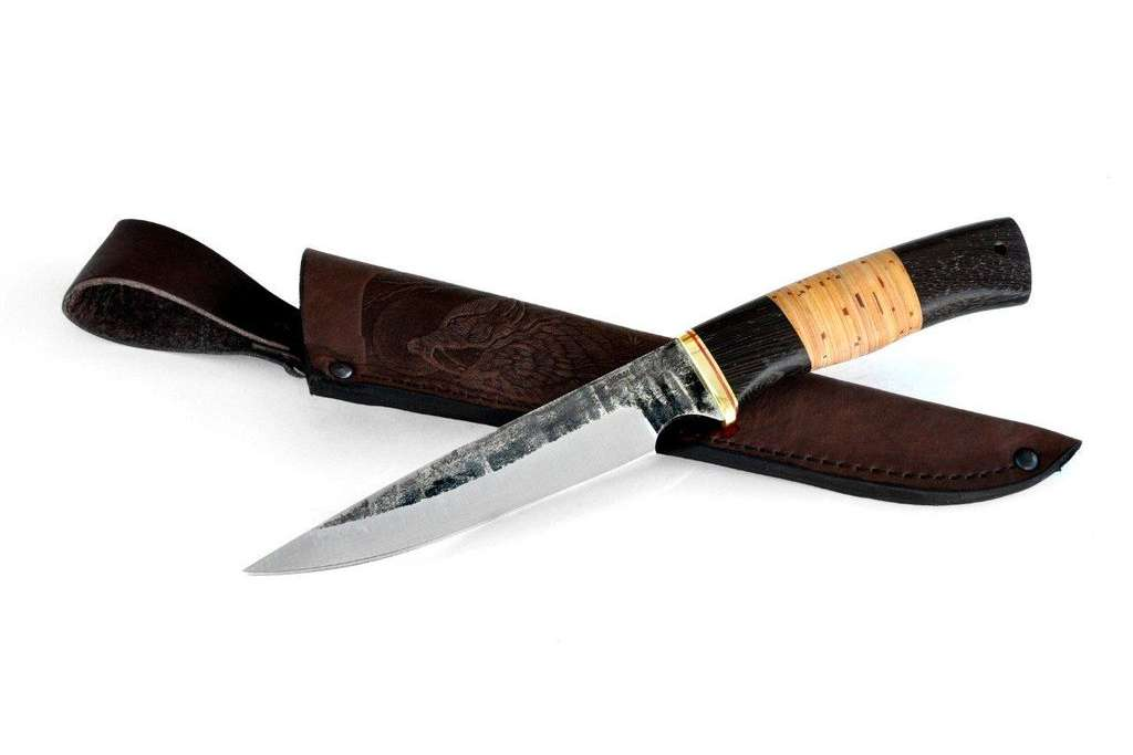"Нож ""Каратель"" (Х12МФ, венге, береста)"