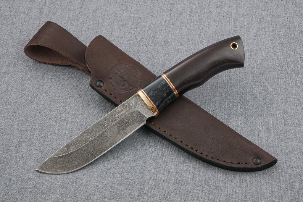 """Нож """"Лиса"""" (Алмазная сталь ХВ-5, венге,стабилизированная карельская береза)"""