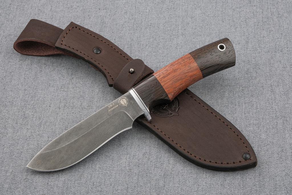 """Нож """"Скаут"""" (Алмазная сталь ХВ-5, венге, бубинга)"""
