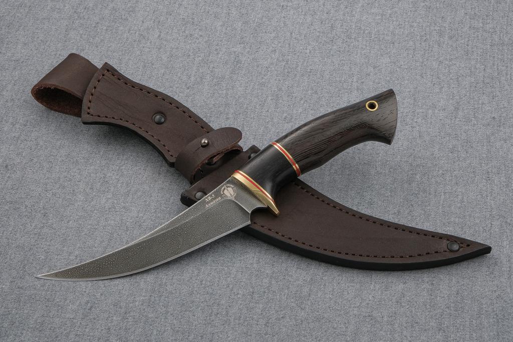 """Нож """"Восточный"""" (Алмазная сталь ХВ-5, венге, вставка граб)"""