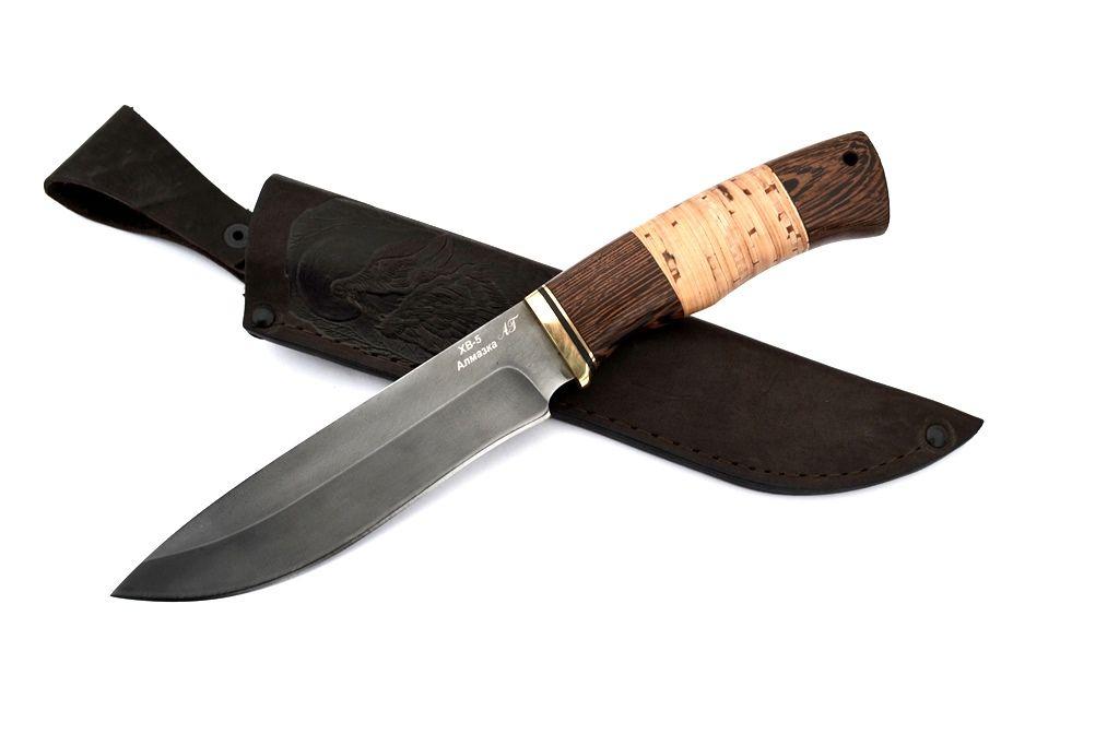 """Нож """"Беркут"""" (Алмазная сталь ХВ-5, венге, береста)"""