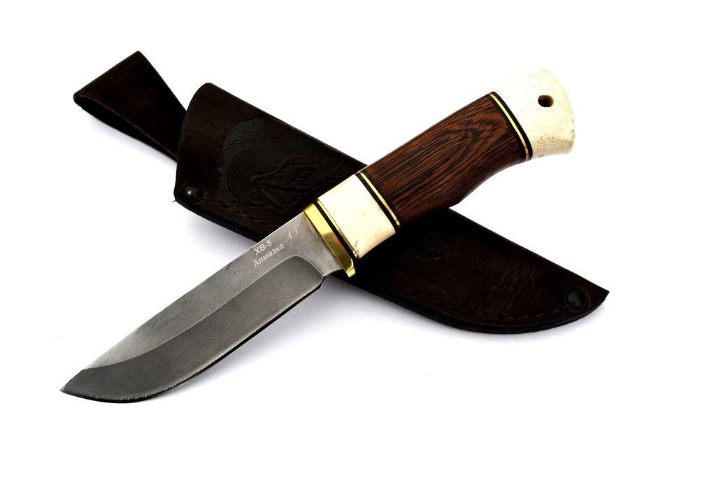 """Нож """"Лиса"""" (Алмазная сталь ХВ-5, рог лося, венге)"""
