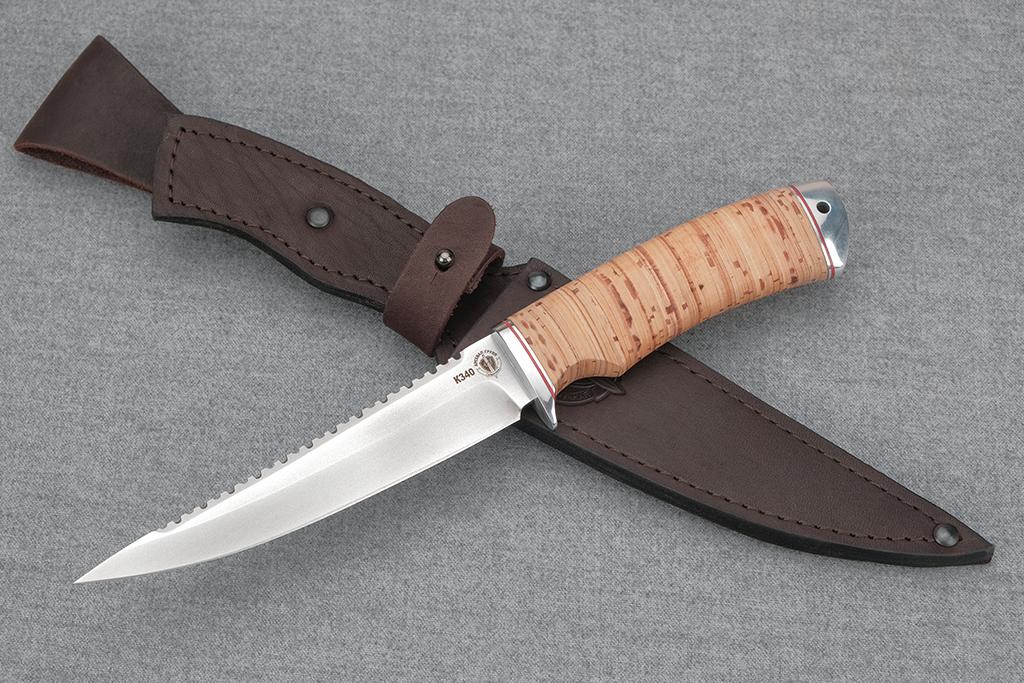 """Нож """"Рыбак-3"""" (Bohler К340, дюраль, береста)"""
