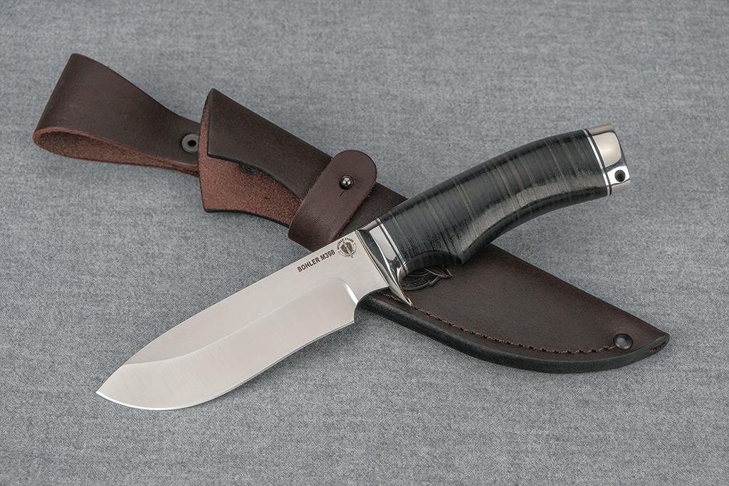 """Нож """"Скаут"""" (М398, литье, кожа)"""