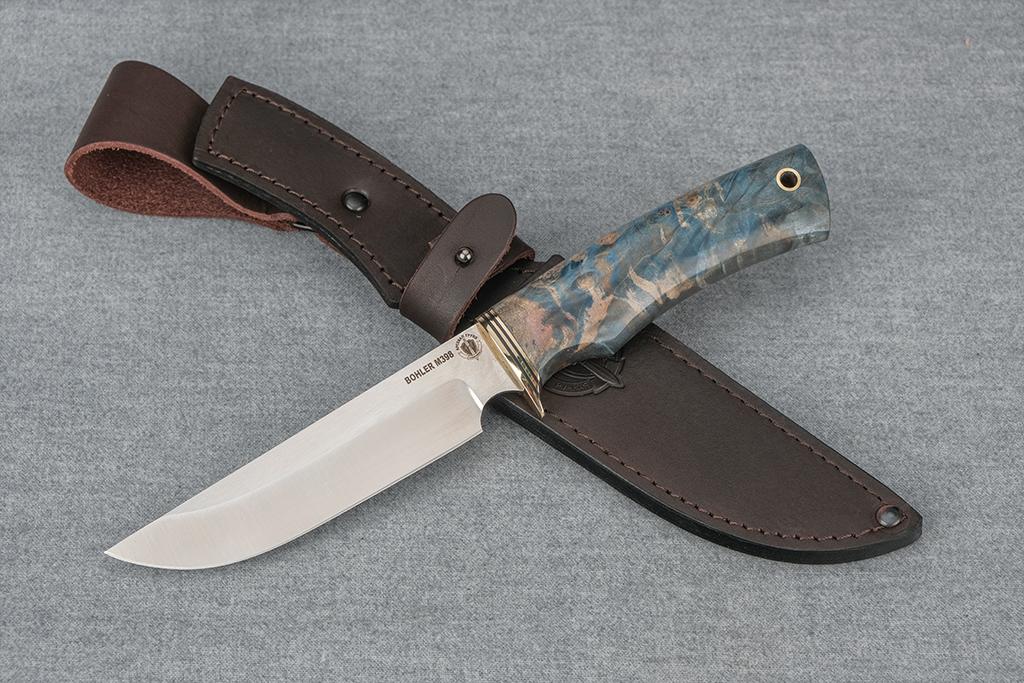 """Нож """"Варан"""" (М398, стабилизированная карельская береза)"""