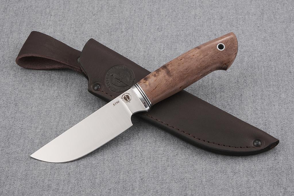 """Нож """"Бизон"""" (S390, стабилизированная карельская береза)"""